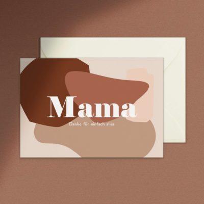 Klappkarte Mama von Anna Beddig